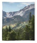 Hallett Peak Colorado Fleece Blanket