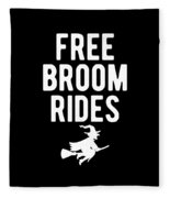 Halloween Shirt Free Broom Rides Witch Gift Tee Fleece Blanket