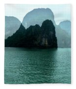 Halong Bay Mountains, Vietnam Fleece Blanket