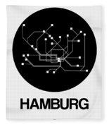 Hamburg Black Subway Map Fleece Blanket