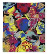 Hammer Flowers Fleece Blanket