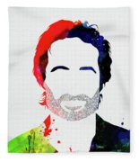 Hank Moody Watercolor Fleece Blanket