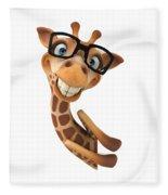 Happy Giraffe Fleece Blanket