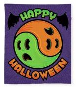Happy Halloween Ghost Yin-yang Fleece Blanket