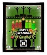 Happy Kwanzaa Fleece Blanket