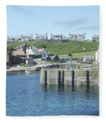 harbour at St. Abbs, Berwickshire Fleece Blanket