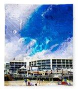 Hard Rock Beach Abstract Fleece Blanket