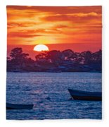 Harpswell Sunset Fleece Blanket