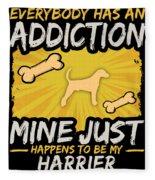 Harrier Funny Dog Addiction Fleece Blanket