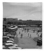 Havana Bus Park Fleece Blanket