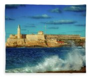 Havana's Morro Castle Fleece Blanket