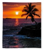 Hawaiian Sunset Fleece Blanket