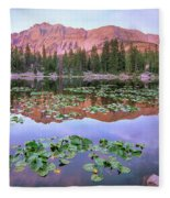 Hayden Peak And Butterfly Lake, Uinta Fleece Blanket