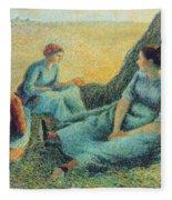 Haymakers Resting, 1891 Fleece Blanket