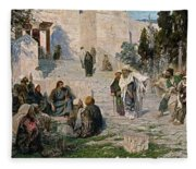 He That Is Without Sin, 1908 Fleece Blanket