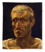 Head Of A Shipwrecked Man Study For The Raft Of Medusa 1819 Fleece Blanket