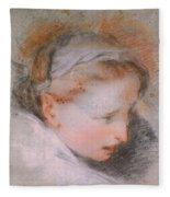 Head Of A Woman             Fleece Blanket