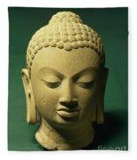 Head Of The Buddha, Sarnath Fleece Blanket