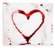 Heart Shape From Splaches And Blobs Fleece Blanket