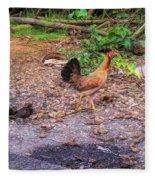 He'eia Kea Chickens Fleece Blanket