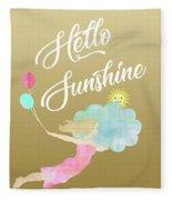 Hello Sunshine Fleece Blanket