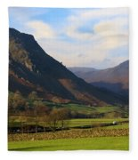 Helm Crag And Wythburn Fells Above Grasmere In The Lake District Fleece Blanket