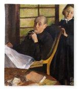 Henri Degas And His Niece Lucie Degas Fleece Blanket