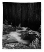 Hepokongas Waterfall Bw Fleece Blanket