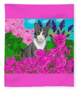 Hercules In The Garden Fleece Blanket