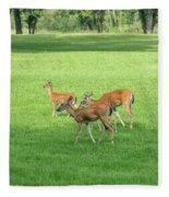 Herd Of Deer Fleece Blanket