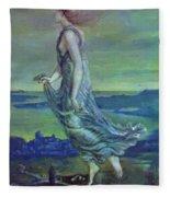 Hesperus The Evening Star 1870 Fleece Blanket