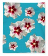 Hibiscus Flower Pattern Fleece Blanket