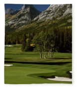 High Angle View Of A Golf Course, Mt Fleece Blanket