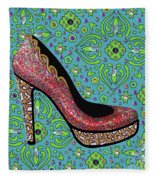High Heel Party Fleece Blanket