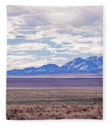 High Plains And Majestic Mountains Fleece Blanket