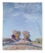 Hill Path In Sunlight, 1892 Fleece Blanket