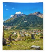 Hillside Cemetery Of Silverton Colorado Fleece Blanket