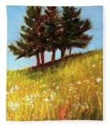 Hillside Evergreens Fleece Blanket