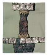 Hilt Of A Viking Sword Found At Hedeby, Denmark, 9th Century Fleece Blanket