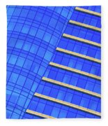 Hilton Blues Fleece Blanket