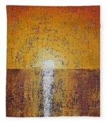 Hilton Head Sunrise Original Painting Fleece Blanket