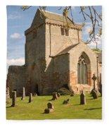 historic Crichton Church and graveyard in Scotland Fleece Blanket