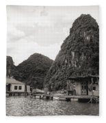 Homes On Ha Long Bay Boat People  Fleece Blanket