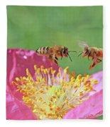 Honeybees Fleece Blanket