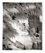 Hoodoo's Black White Utah  Fleece Blanket