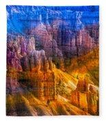 Hoodoo's Rainbow Color Mix Bryce Canyon  Fleece Blanket