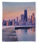 Hook Pier - North Avenue Beach - Chicago Fleece Blanket
