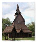Hopperstad Stave Church Replica Fleece Blanket