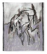 Horse In A Field Fleece Blanket