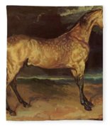 Horse In The Storm 1821 Fleece Blanket